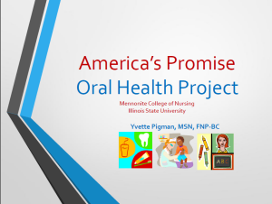 2014 IFLOSS Conference APSP Oral Health