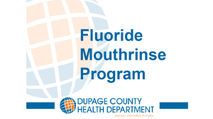 DCHD Fluoride Mouthrinse Program
